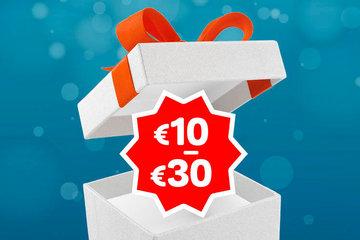 Cadeaus van 10 tot 30 euro