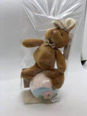 Giftset -konijn sleutelhanger/bruisbal