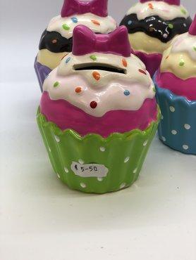 Spaarpot Cupcake groen